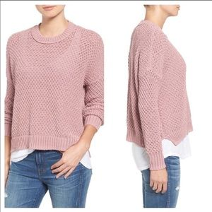 Madewell French Quarter open knit pullover sweater